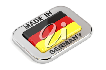 Glossy Made in Germany badge on white background