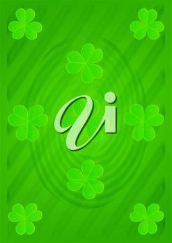 St Patricks Day Abstract backdrop whith three-leaf clover