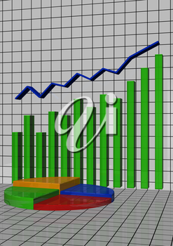 The schedule the histogram showing lifting and business blossoming