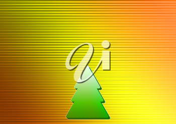 Christmas background with Christmas trees