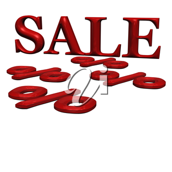Royalty Free Clipart Image of the Word Sale and Percent Signs