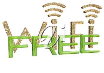 Sign of a free zone of a wireless communication