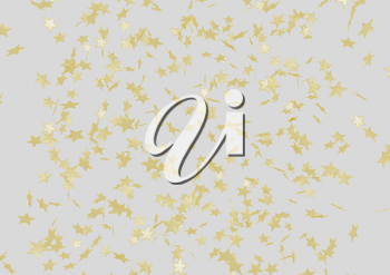 Abstract modern Holiday background with gold stars.