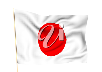 Image of a waving flag of Japan