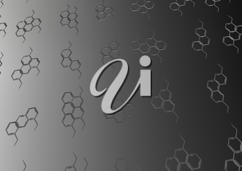 Background with structural chemical formulas. Concept of a chemical background.