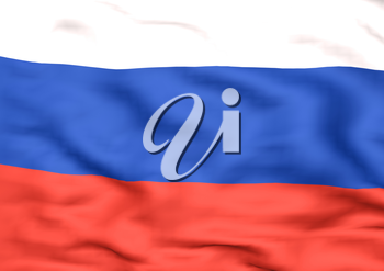 Image of a waving flag of Russia