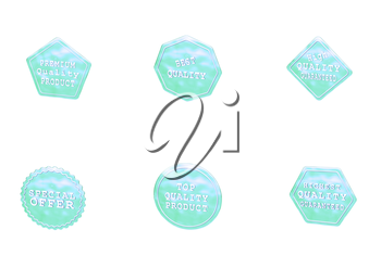 High Quality set of Sale product badges isolated on white.