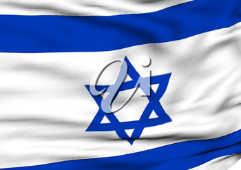Image of a waving flag of Israel