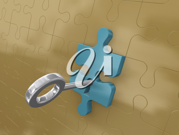 Royalty Free Clipart Image of a Platinum Key