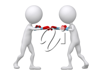Royalty Free Clipart Image of Boxing Figures