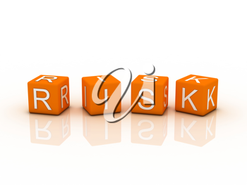 Royalty Free Clipart Image of Risk Block Letters in Orange