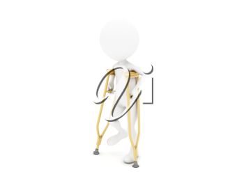 Royalty Free Clipart Image of an Injured Figure