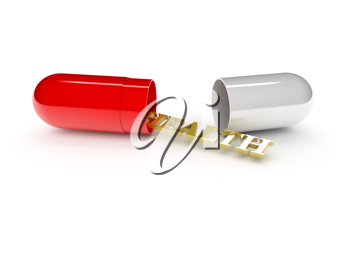 Royalty Free Clipart Image of Health in a Capsule
