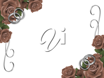 Royalty Free Clipart Image of a Wedding Roses