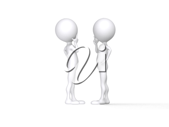 Royalty Free Clipart Image of People Carrying on a Conversation