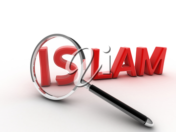 3d image word islam concept