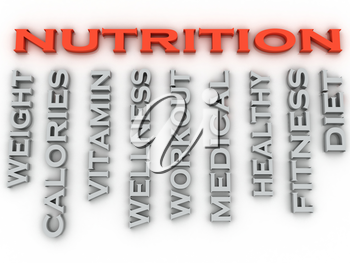 3d image nutrition  issues concept word cloud background