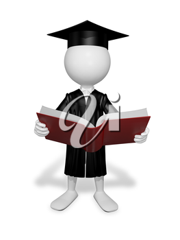 Royalty Free Clipart Image of a Graduate