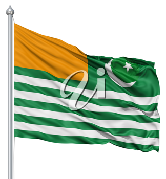 Royalty Free Clipart Image of the Flag of Azad Kashmir