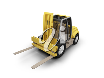 Royalty Free Clipart Image of a Forklift