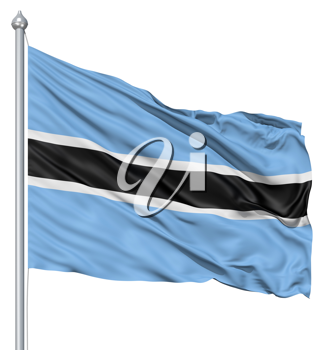 Royalty Free Clipart Image of the Flag of Botswana