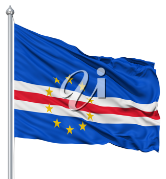 Royalty Free Clipart Image of the Flag of Cape Verde