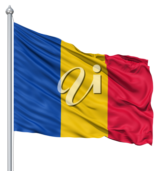 Royalty Free Clipart Image of the Flag of Chad