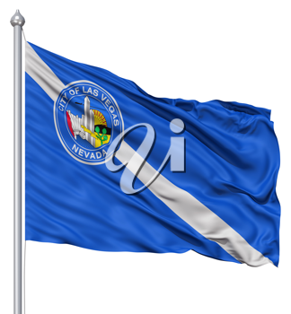 Royalty Free Clipart Image of the City of Las Vegas Flag
