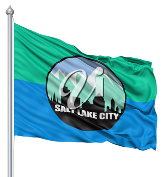 Royalty Free Clipart Image of the Salt Lake City Flag