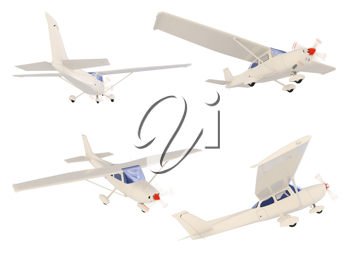 Royalty Free Clipart Image of a Bunch of Airplanes