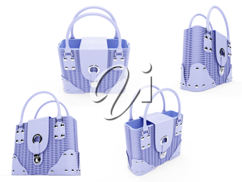 Royalty Free Clipart Image of a Bunch of Handbags