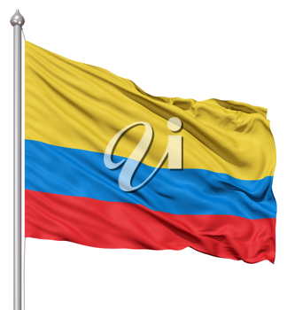 Royalty Free Clipart Image of the Flag of Columbia