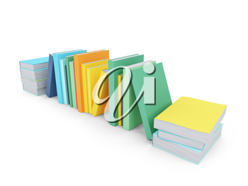 Royalty Free Clipart Image of a Bunch of Books