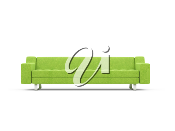 Royalty Free Clipart Image of a Green Couch