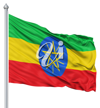 Royalty Free Clipart Image of the Flag of Ethiopia