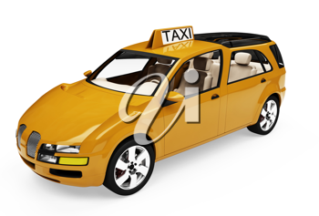 Royalty Free Clipart Image of a Taxi