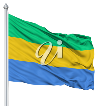 Royalty Free Clipart Image of the Flag of Gabon