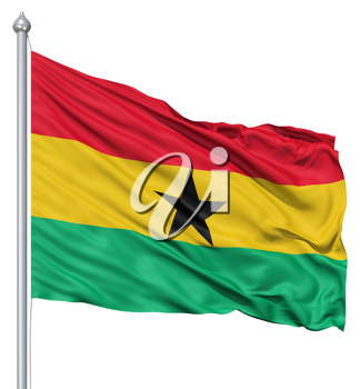 Royalty Free Clipart Image of the Flag of Ghana
