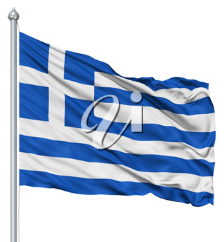 Royalty Free Clipart Image of the Flag of Greece