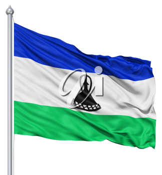 Royalty Free Clipart Image of the Flag of Lesotho