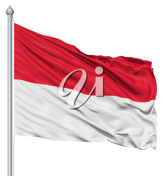 Royalty Free Clipart Image of the Flag of Monaco