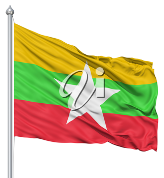 Royalty Free Clipart Image of the Myanmar Flag