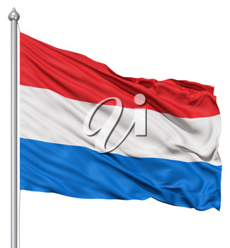 Royalty Free Clipart Image of the Netherlands Flag