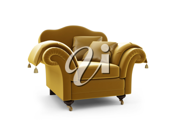 Royalty Free Clipart Image of an Armchair