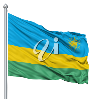 Royalty Free Clipart Image of the Flag of Rwanada