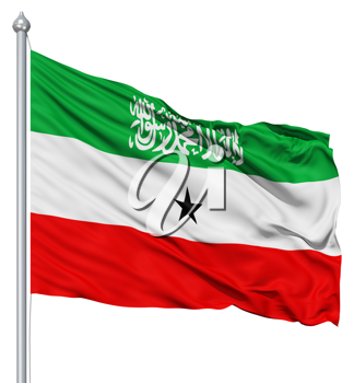 Royalty Free Clipart Image of the Flag of Somaliland