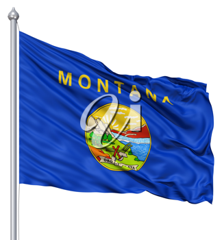 Royalty Free Clipart Image of the Flag of Montana