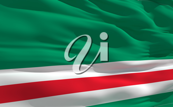 Royalty Free Clipart Image of the Flag of Ichkeria