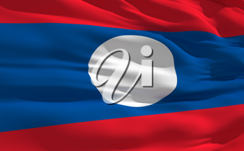 Royalty Free Clipart Image of the Flag of Laos