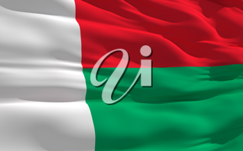 Royalty Free Clipart Image of the Flag of Madagascar
